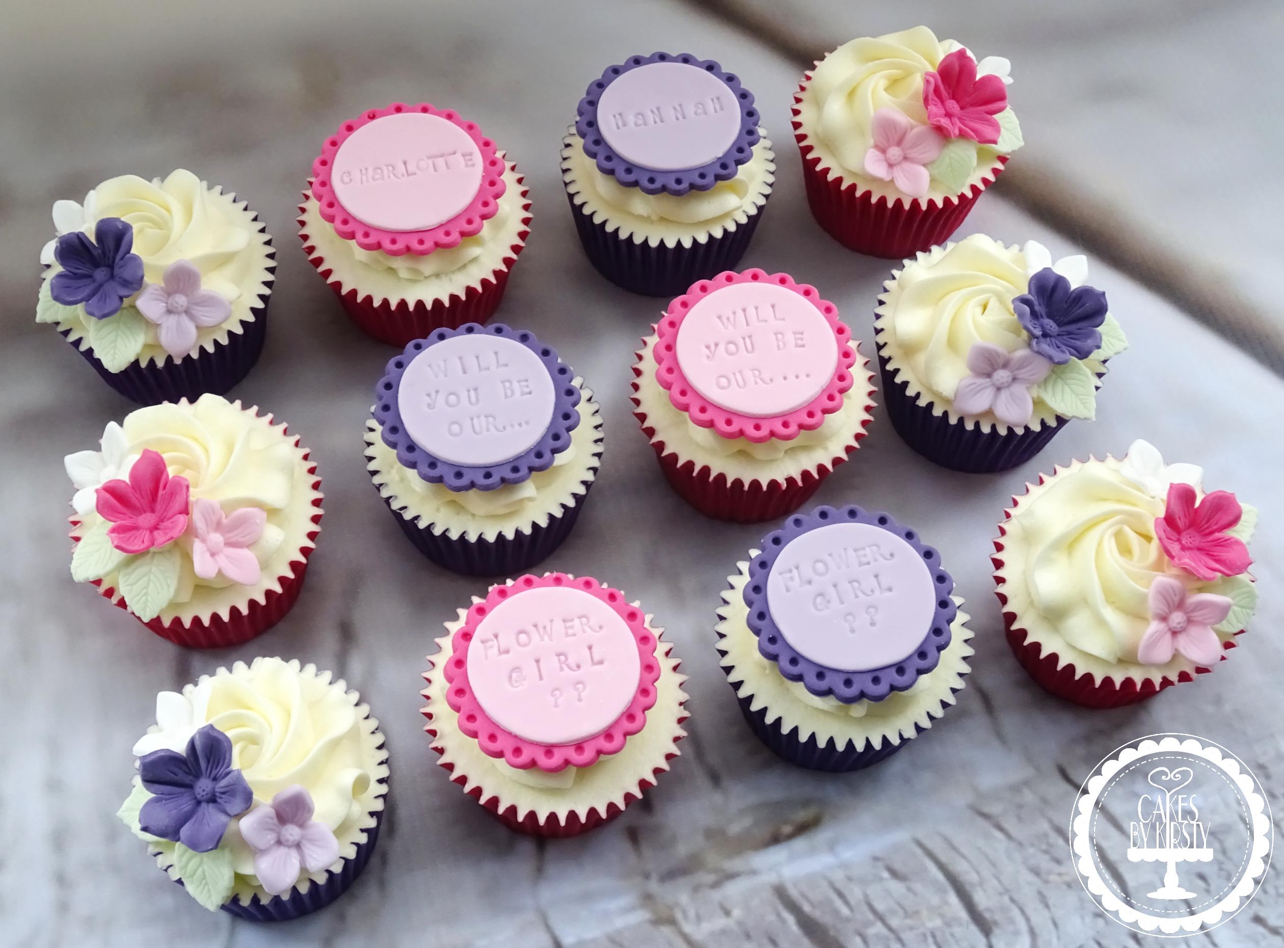 Flower Girl Cupcakes