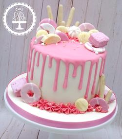 Pink Sweetie Drip Cake