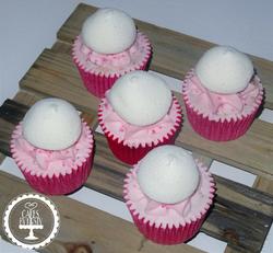 Strawberry Milkshake Cupcakes with Marshmallows