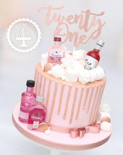 20200321 - Pink Gin 21st Drip Cake