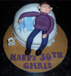 Sleeping Man on Couch Cake