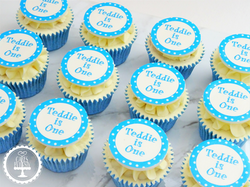1st Birthday Dotty Cupcakes