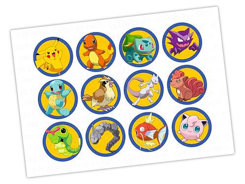 "Pokemon - 12x 2.25"""