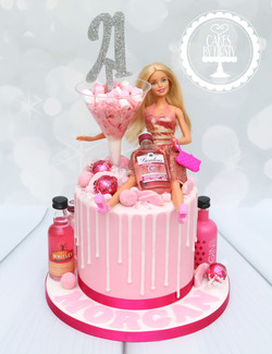 20200125 - Barbie Pink Gin 21st Drip Cak