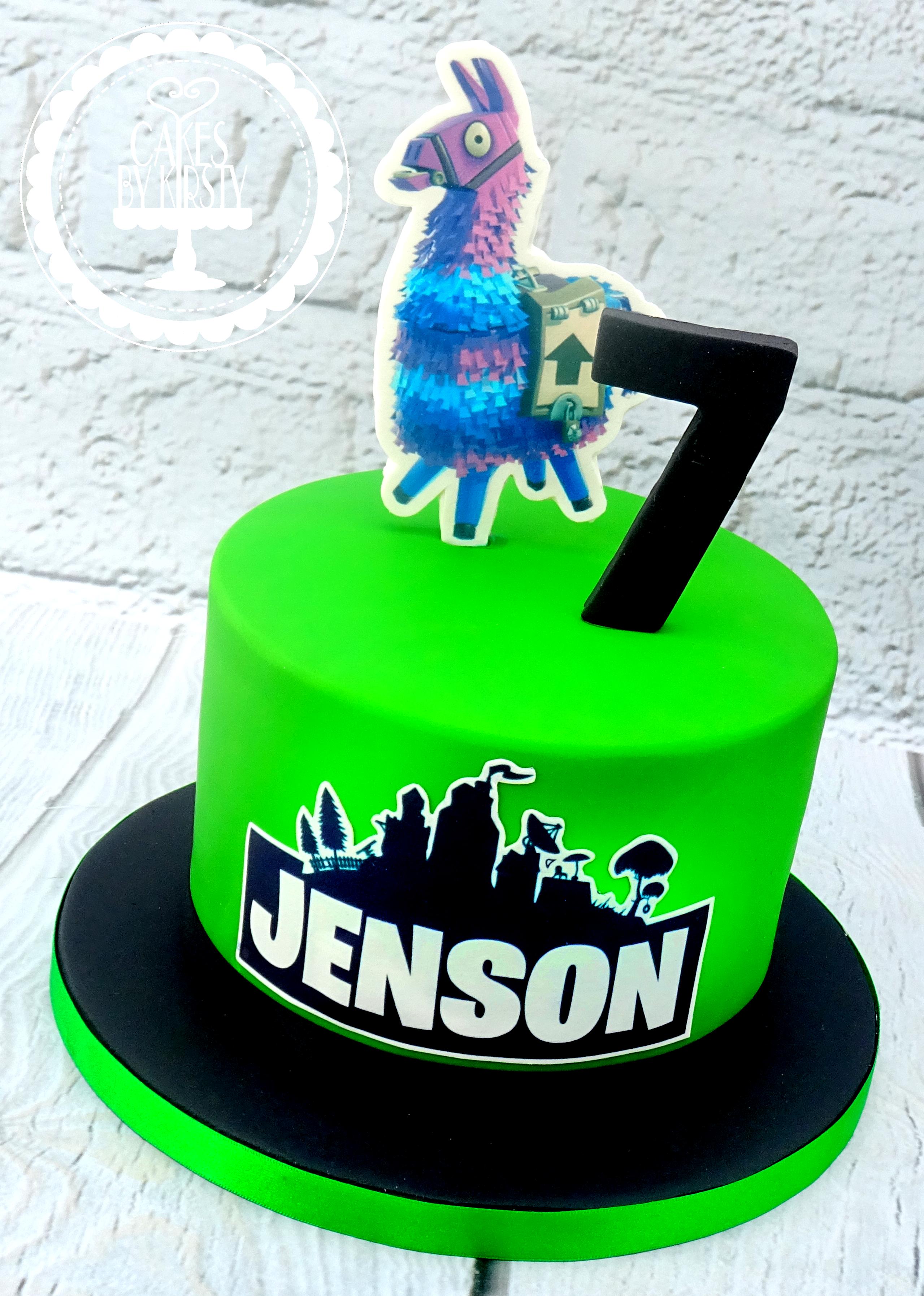 Fortnite 7th Birthday Cake