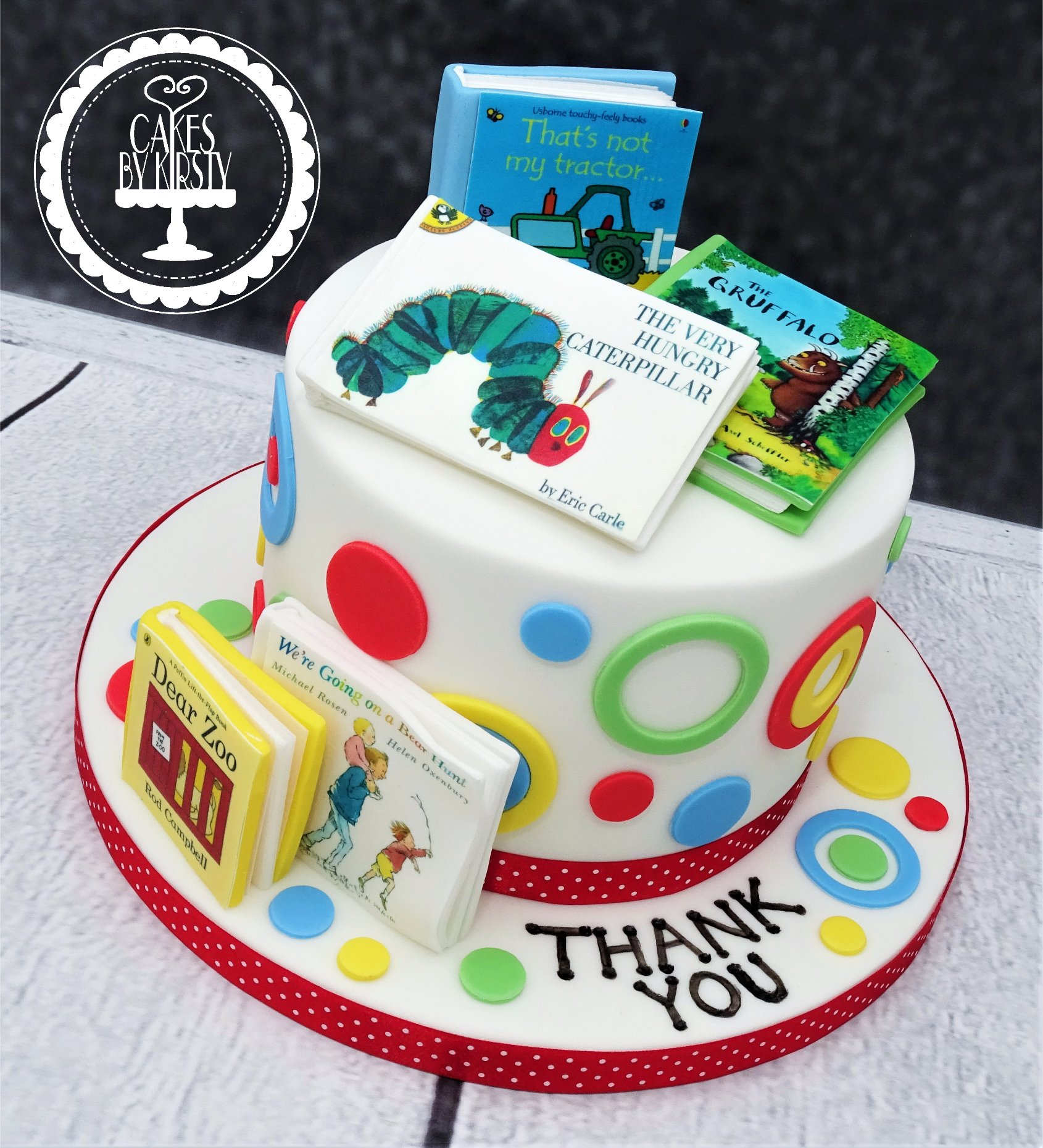 Nursery Book Thank You Cake