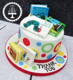 Nursery Book Thank You Cake