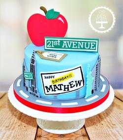 New York 21st Birthday Cake