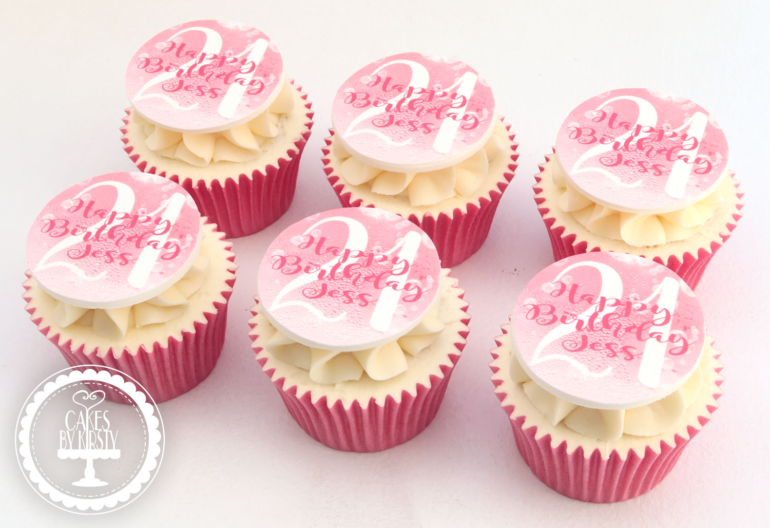 20210122 - Pink 21st Cupcakes