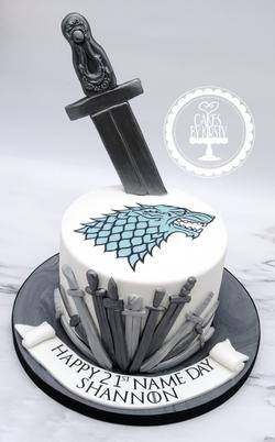 Game of Thrones 21st Birthday Cake