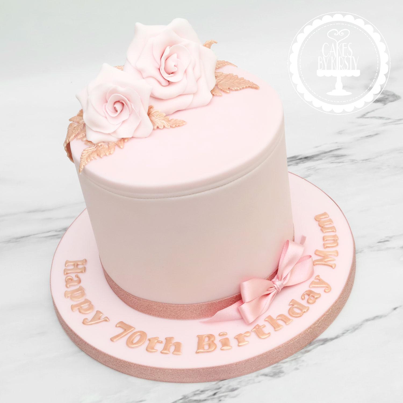 20200125 - Rose Gold Floral Cake