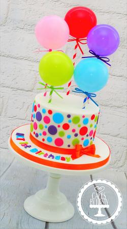 NCT Balloon Cake