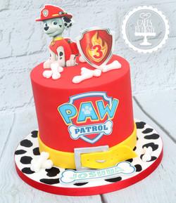 20201219 - Paw Patrol Marshall Cake