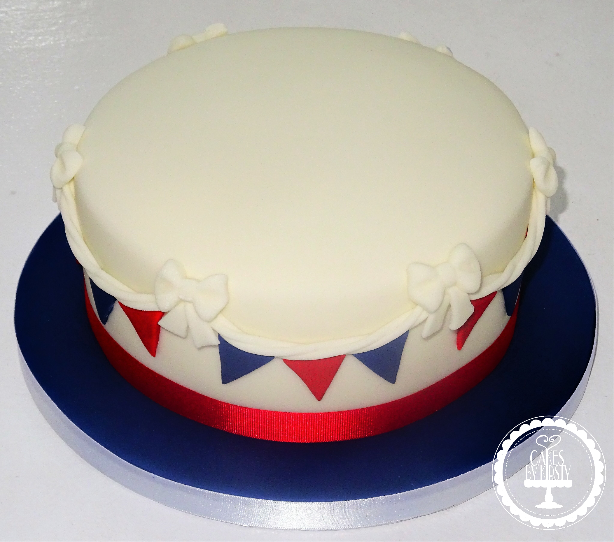 Simple Bunting Cake