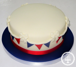 Simple Bunting Cake