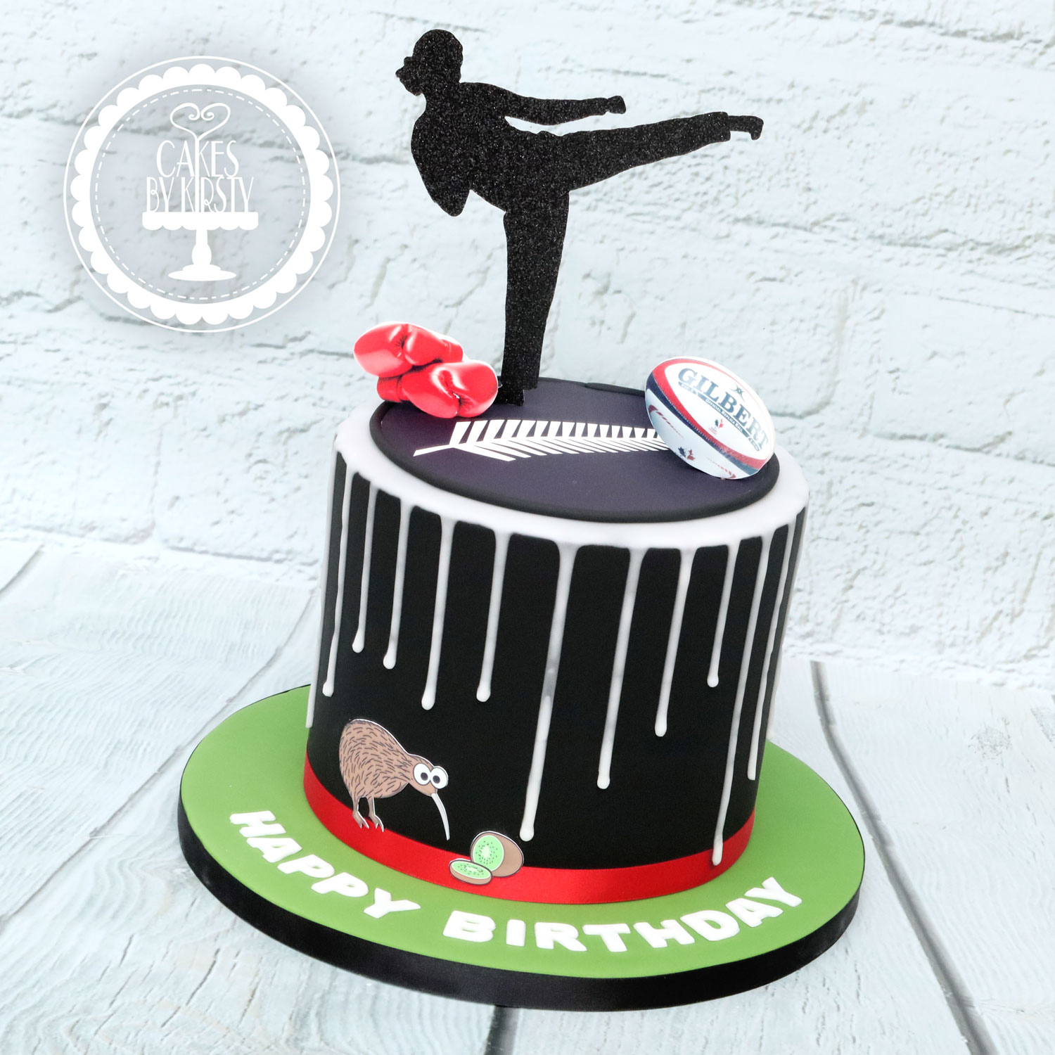 20210123 - Rugby Kickboxing Cake