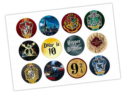 "Harry Potter - 12x 2.25"""
