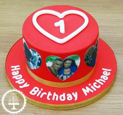 1st Birthday & Valentines Cake