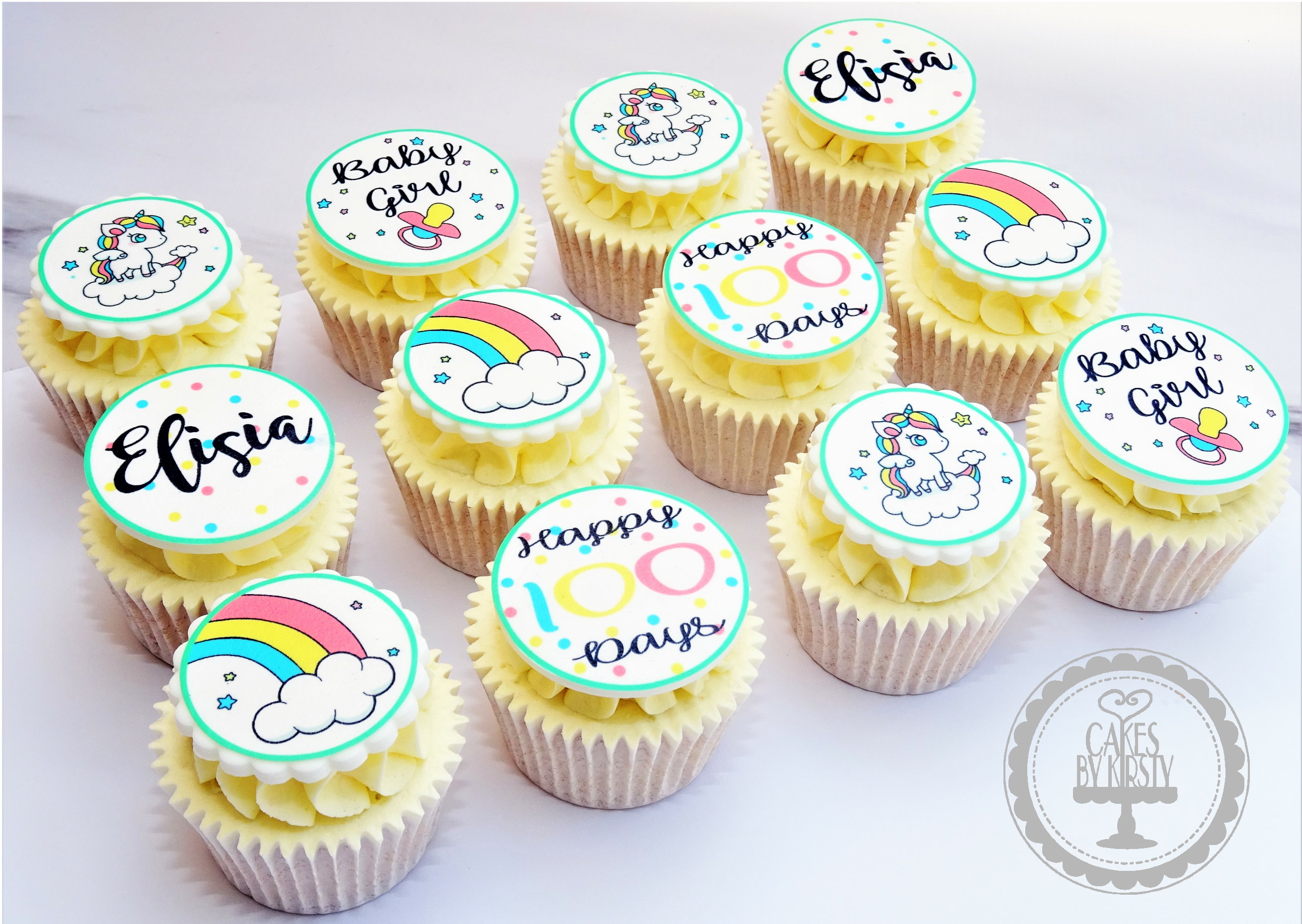 Unicorn 100 Day Celebration Cupcakes