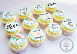 Unicorn 100 Day Celebration Cupcakes