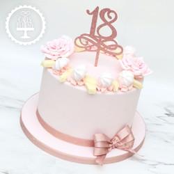 20200111 - Floral 18th Birthday Cake