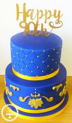 Regal 90th Cake