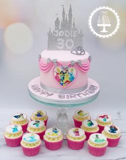 30th Disney Princess Cake & Cupcakes