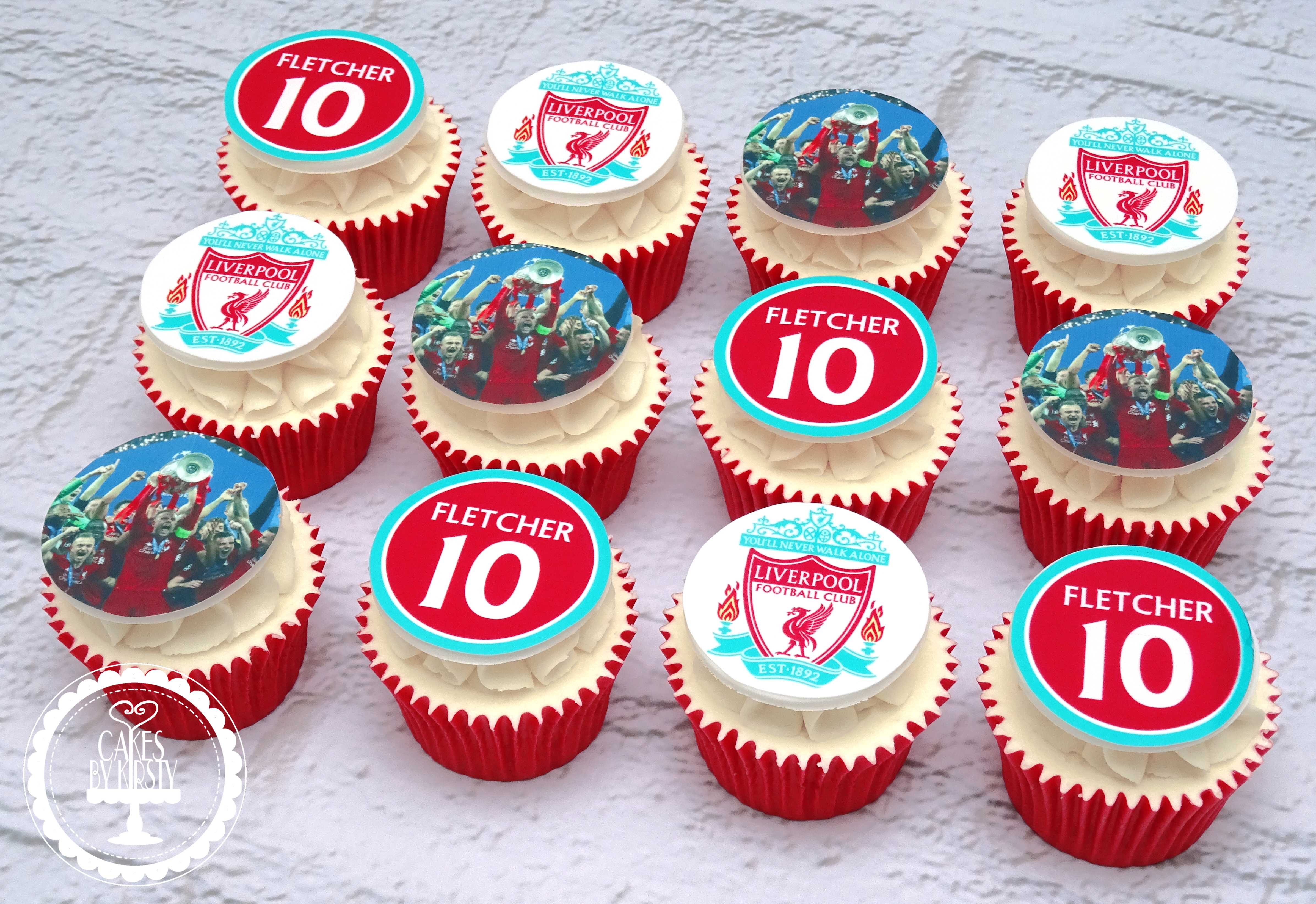 20190707 - Liverpool Football Cupcakes