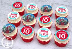 20190707 - Liverpool Football Cupcakes