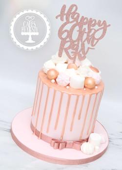 20201024 - Rose Gold Drip Cake