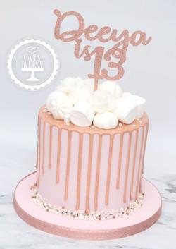 20200314 - Rose Gold Drip Cake