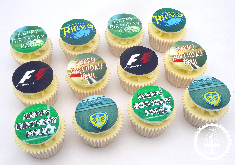 Edible Image Hobby Cupcakes