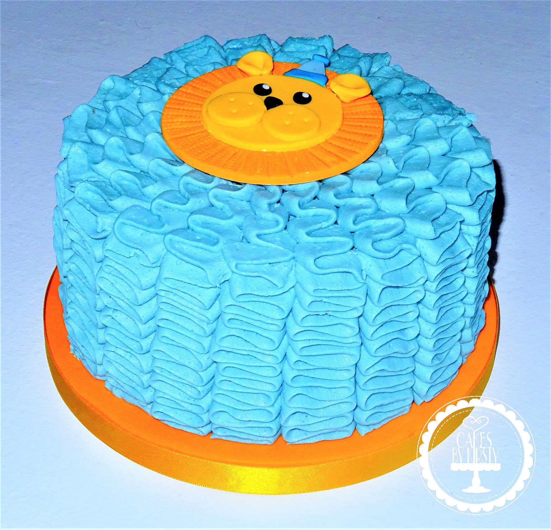 Lion Baby Smash Buttercream Cake