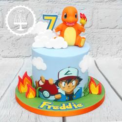 20200828 - Pokemon Charmander Cake