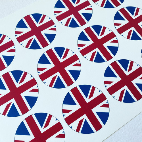 Union Jack - Cupcake Toppers