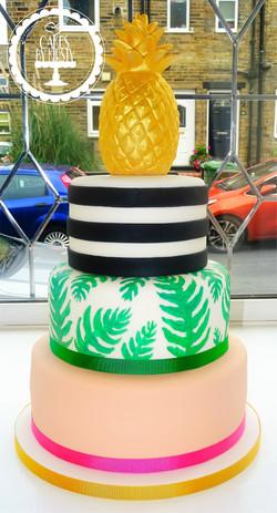 Summer Themed Pineapple Cake