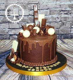 Lindor Chocolate Drip Cake