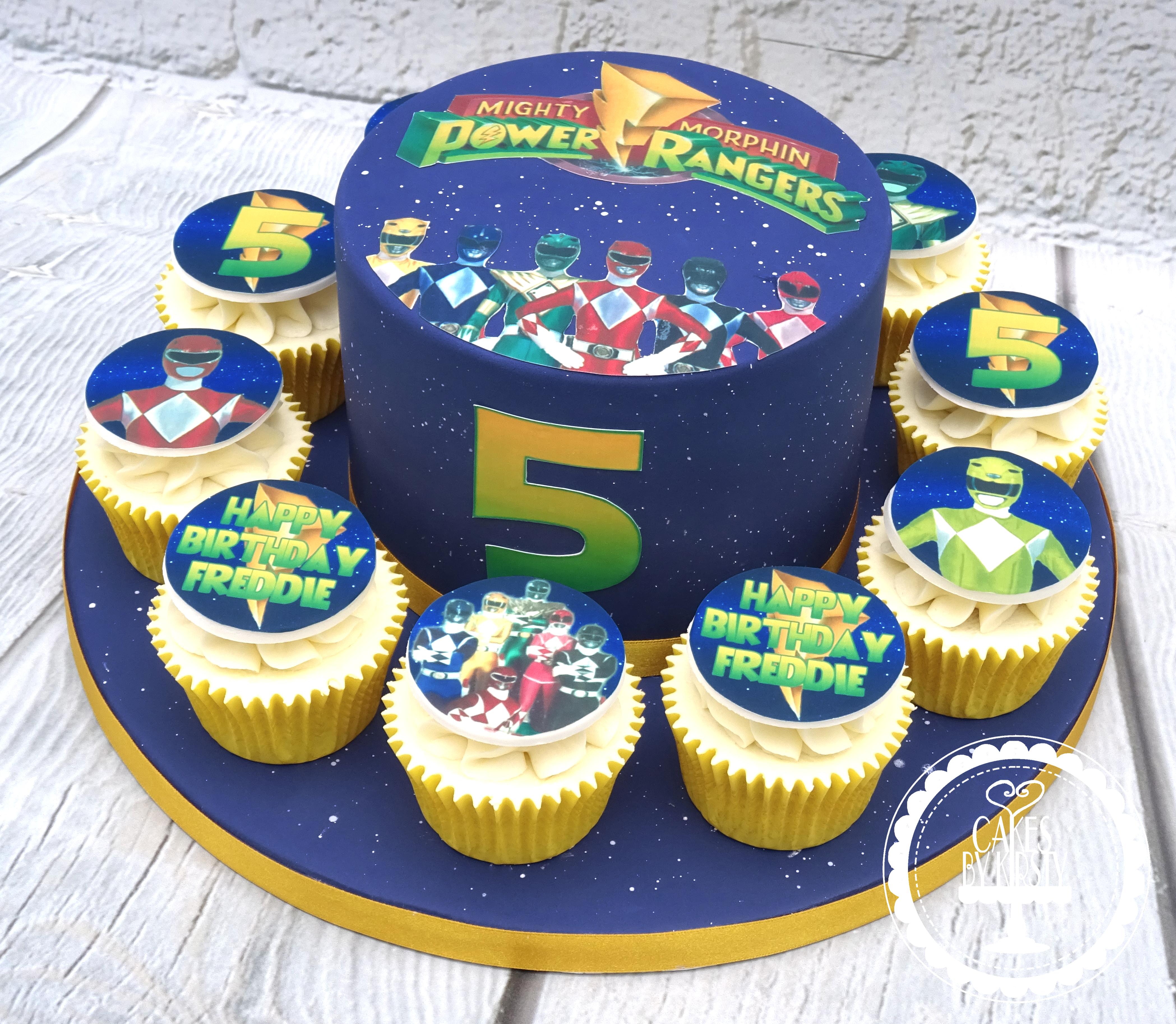 Power Rangers Cake & Cupcakes