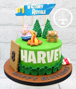 Fortnite 8th Birthday Cake