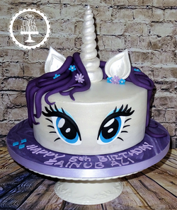 My Little Pony (Rarity) Unicorn Cake