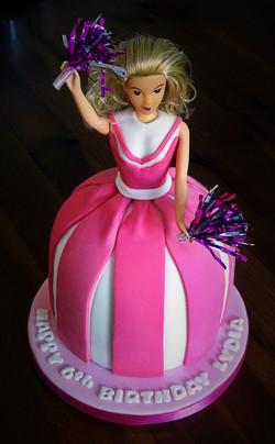 Cheerleader Doll Cake