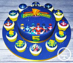 Power Ranger Cake & Cupcakes