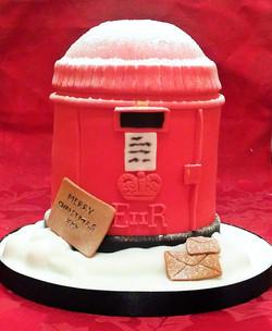 Christmas Postbox Cake