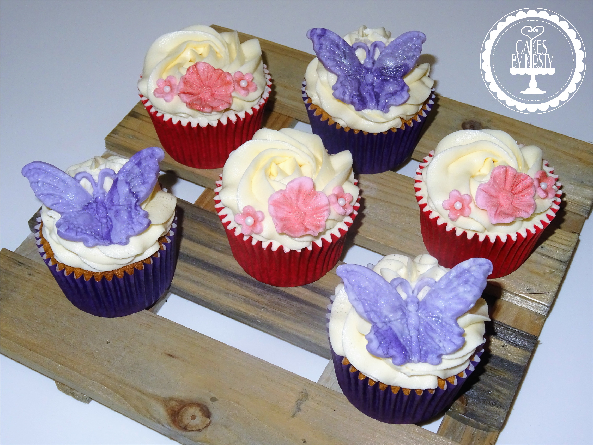 Simple Butterfly Cupcakes