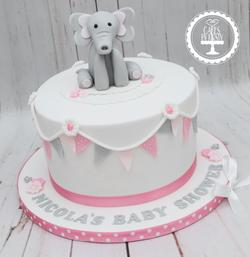 20190824 - Elephant Baby Shower Cake