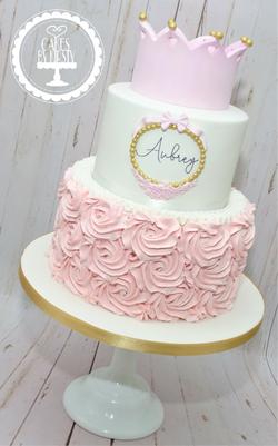 Princess Crown 1st Birthday Cake