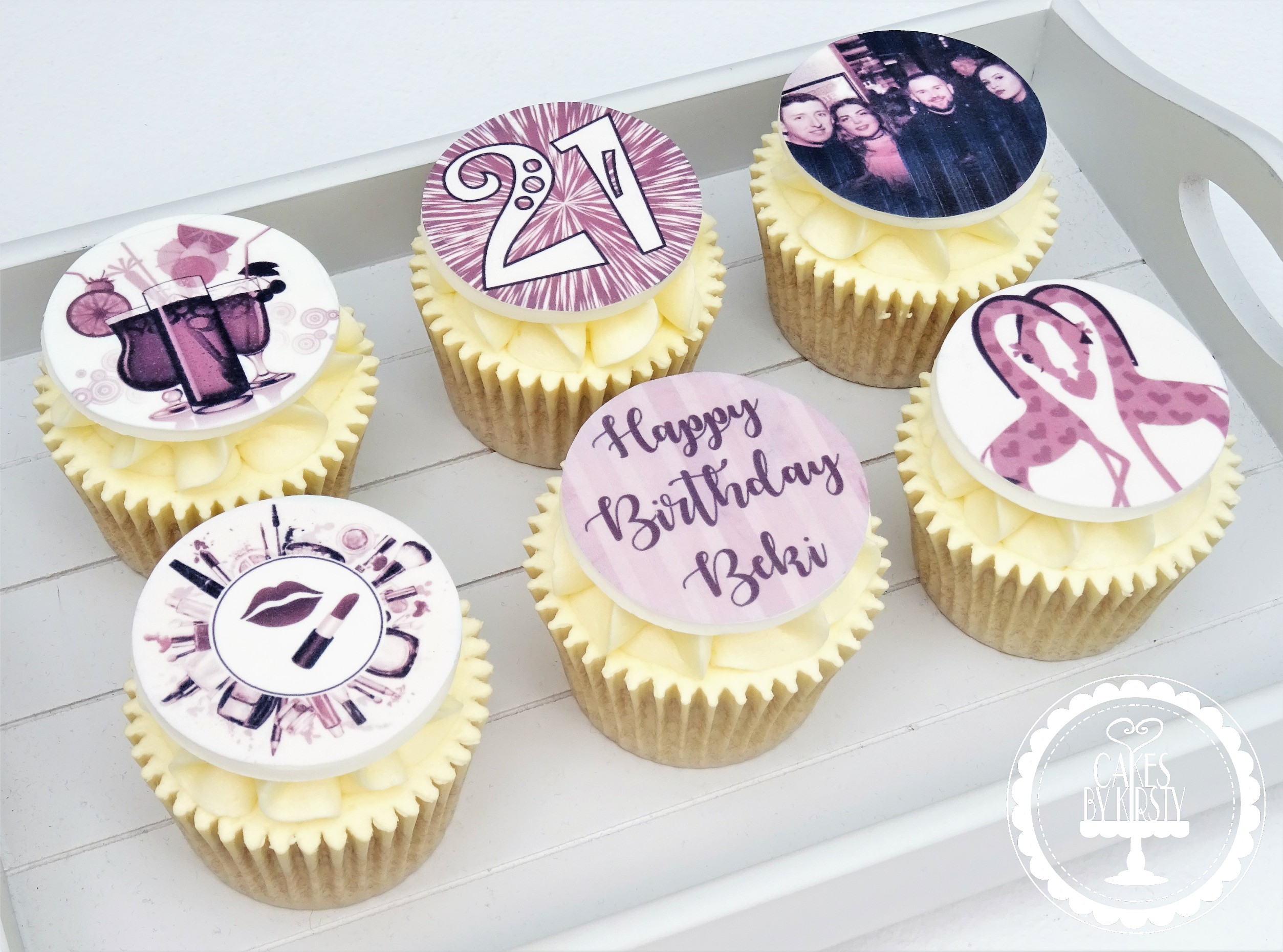 Purple Birthday Cupcakes