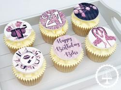 Purple Birthday Cupcakes