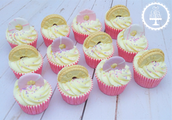 Party Ring & Jammie Dodger Cupcakes