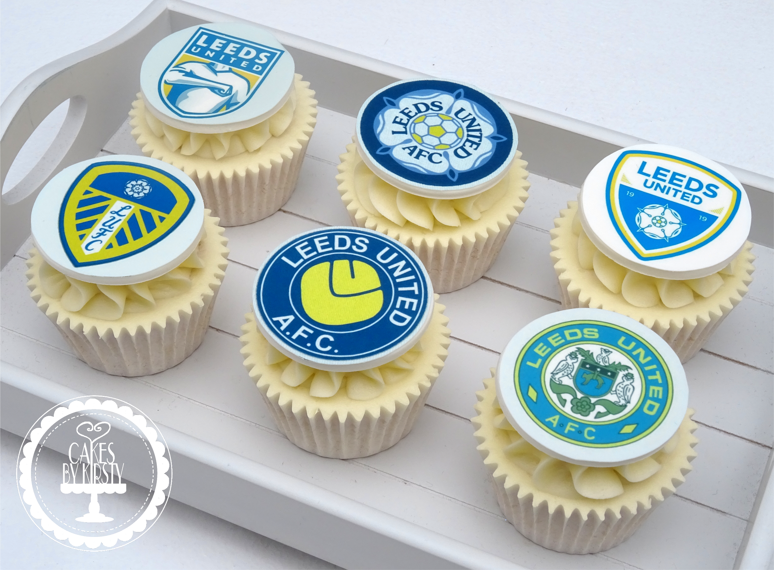 Leeds United Cupcakes (Edible Image)